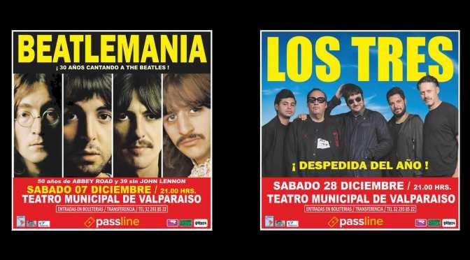 Dimensión Latinoamericana cierra temporada 2019 con Los Tres y Beatlemanía en el Teatro Municipal de Valparaíso